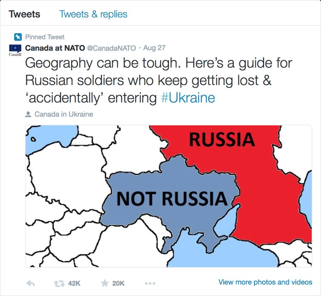 Canada at NATO Ukraine Tweet