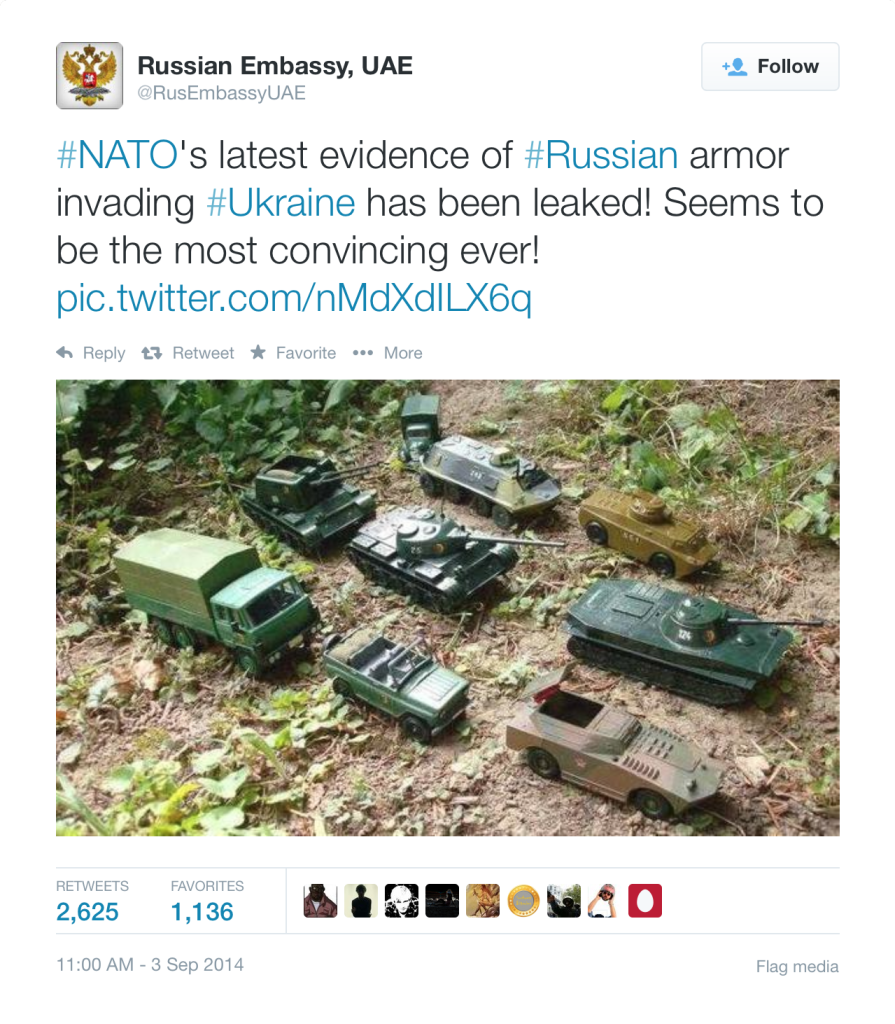 Russia's Equally Light Hearted Response